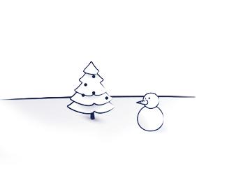 Illustratie voor een kerstkaart