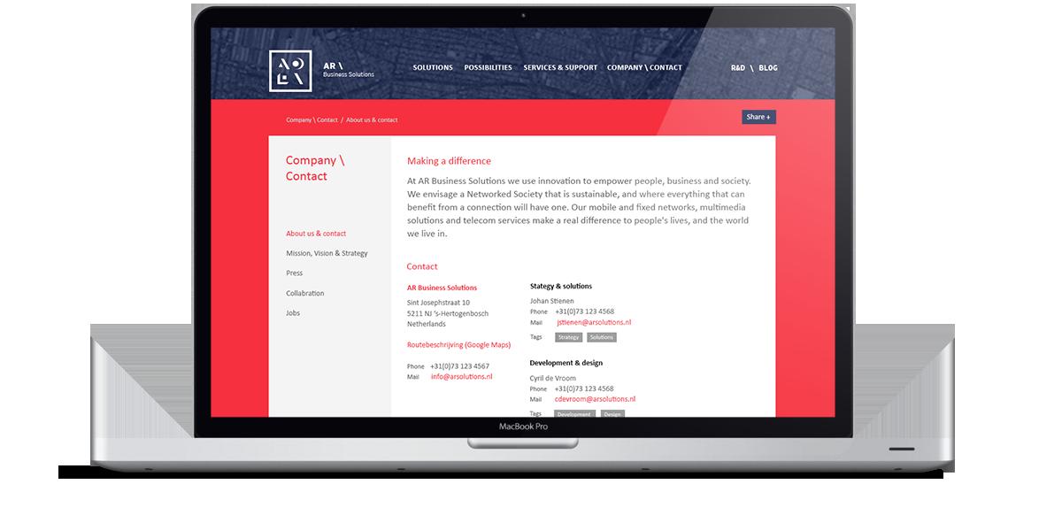 AR Business Solutions Website