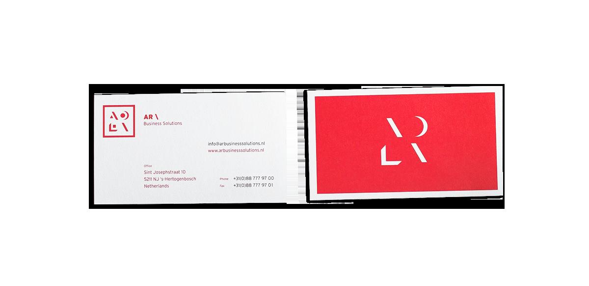 AR Business Solutions visitekaartjes