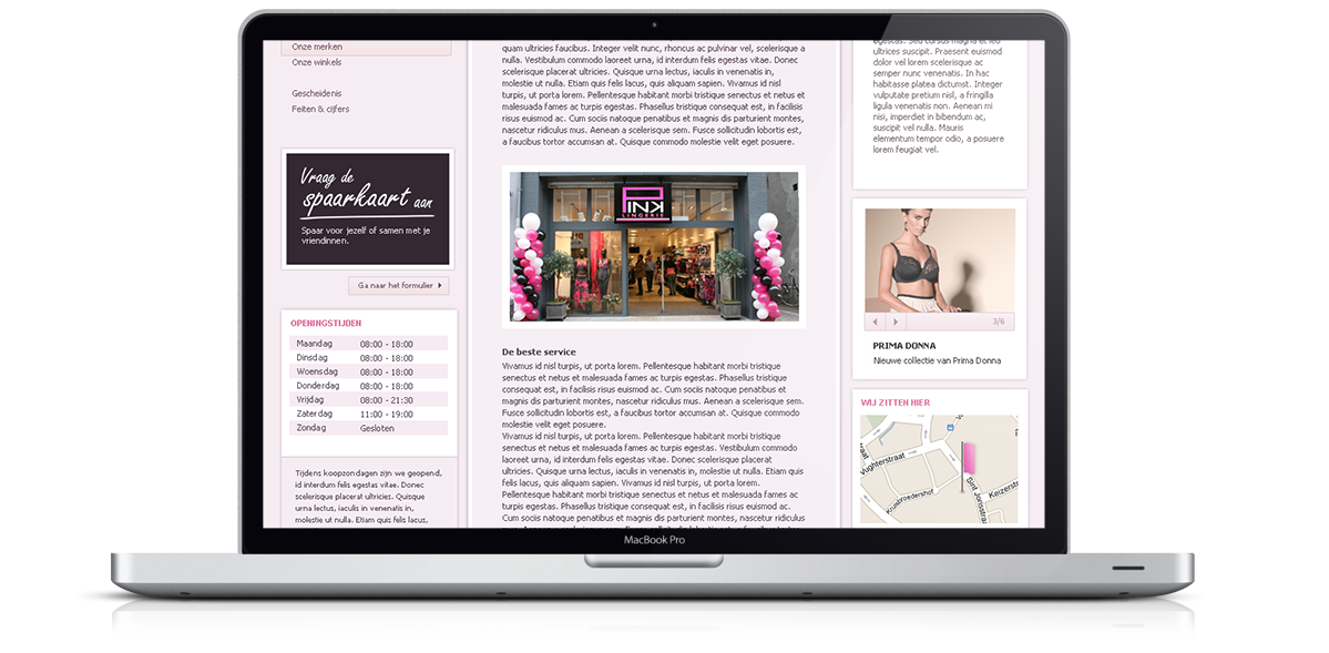Pink Lingerie Website