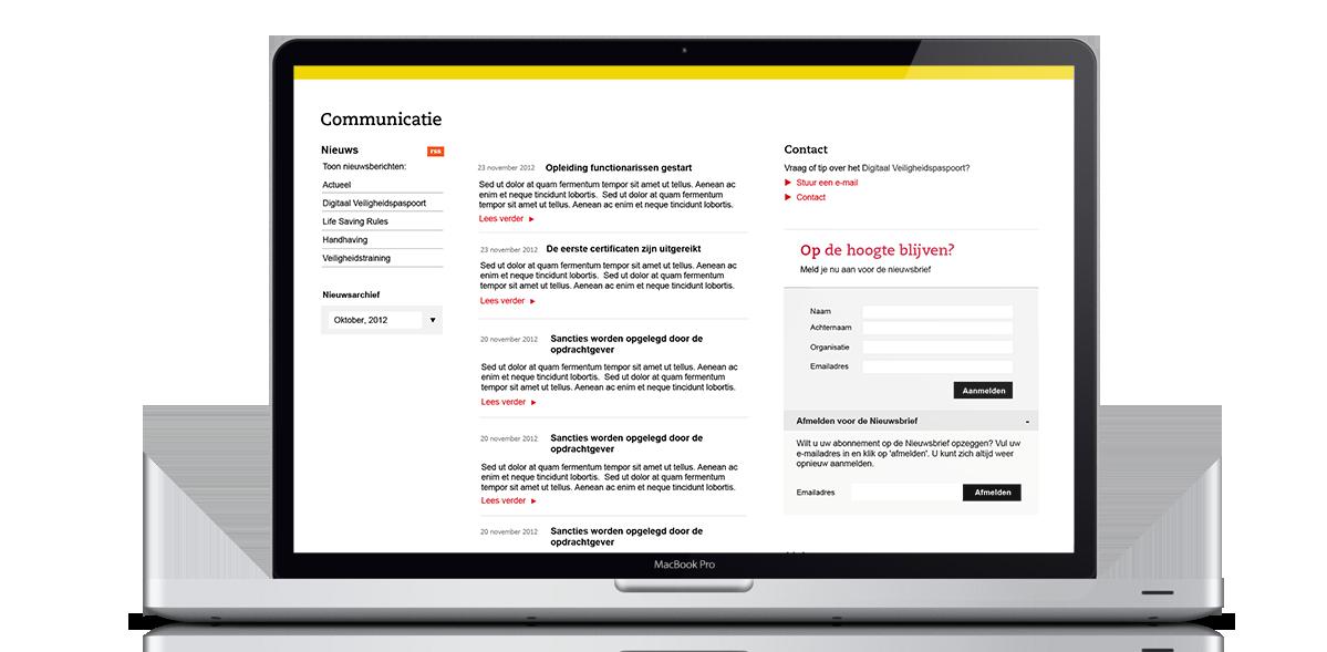 Digitaal Veiligheidspaspoort Website