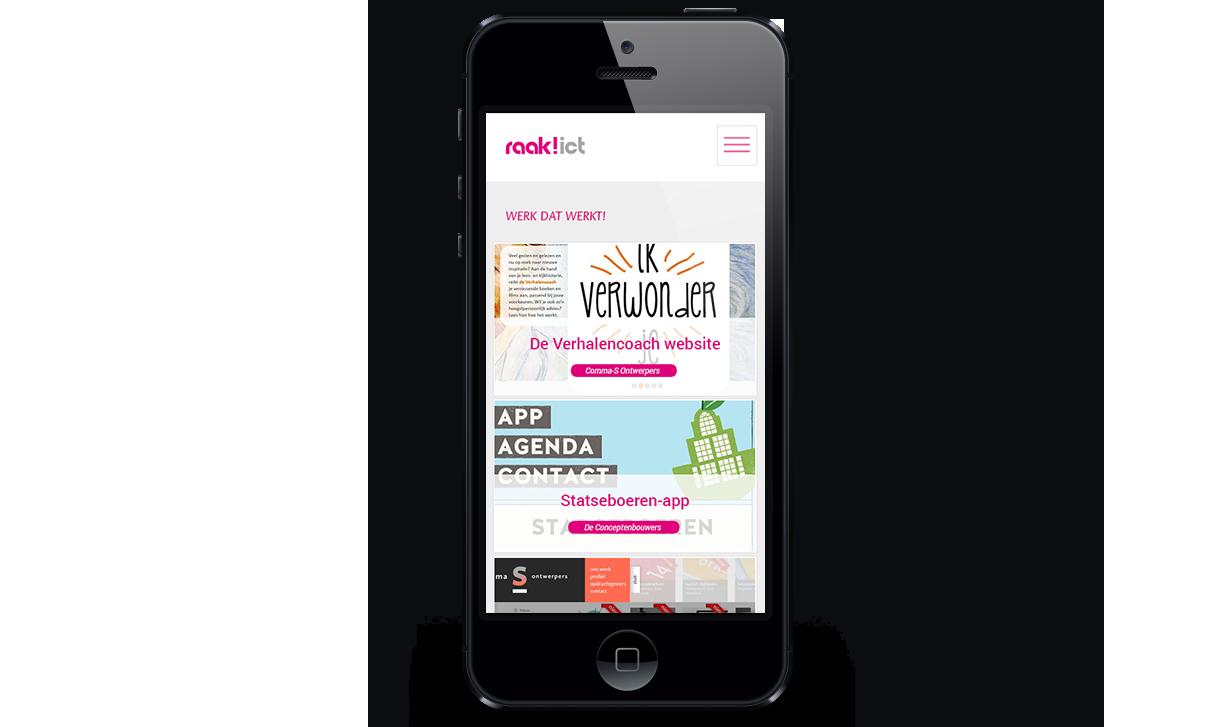Raak ICT Mobiele website